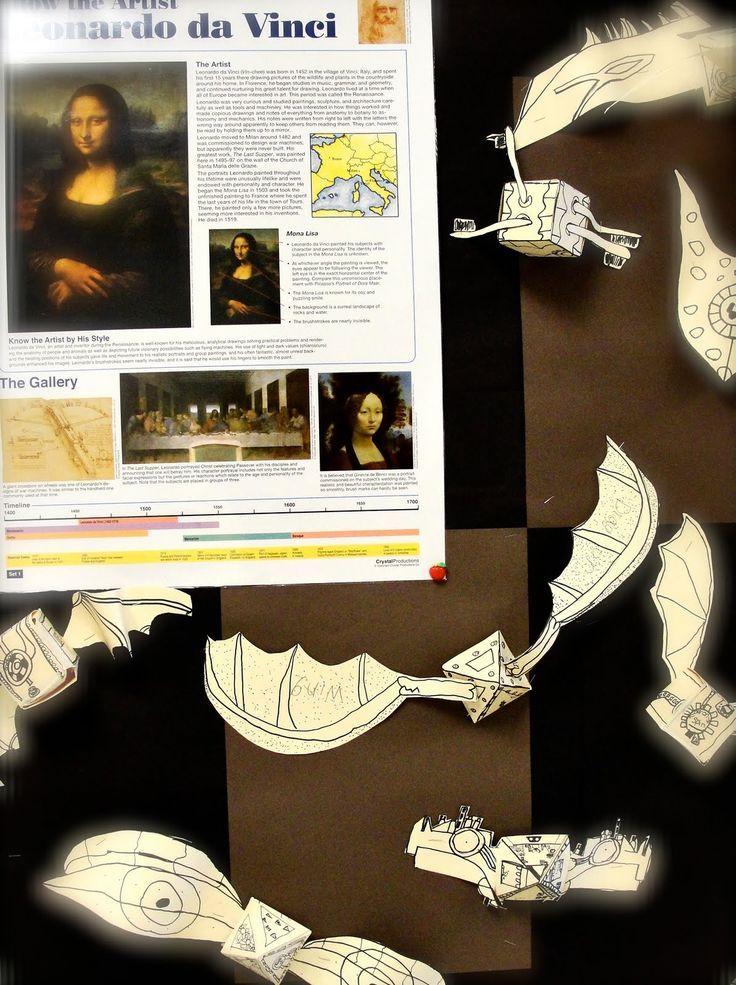 Da Vinci's Wings: 4th Grade Flying Machines Inspired by Da ...