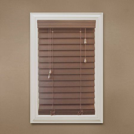 Richfield Studio 2 5 Inch Faux Wood Blinds Width 10 Inch 40 5 Inch Length 48 Inch Brown Venetian Blinds Shades Blinds Wood Blinds
