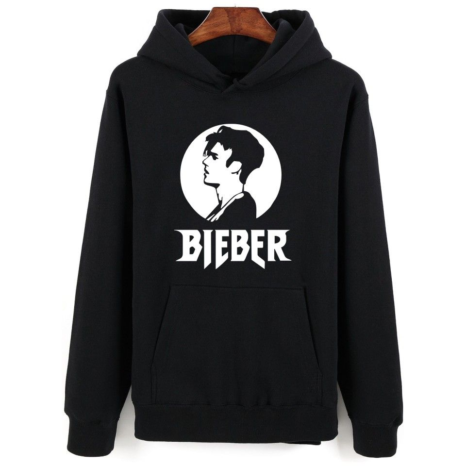 cool print justin bieber hoodies&sweatshirts men/ women purpose
