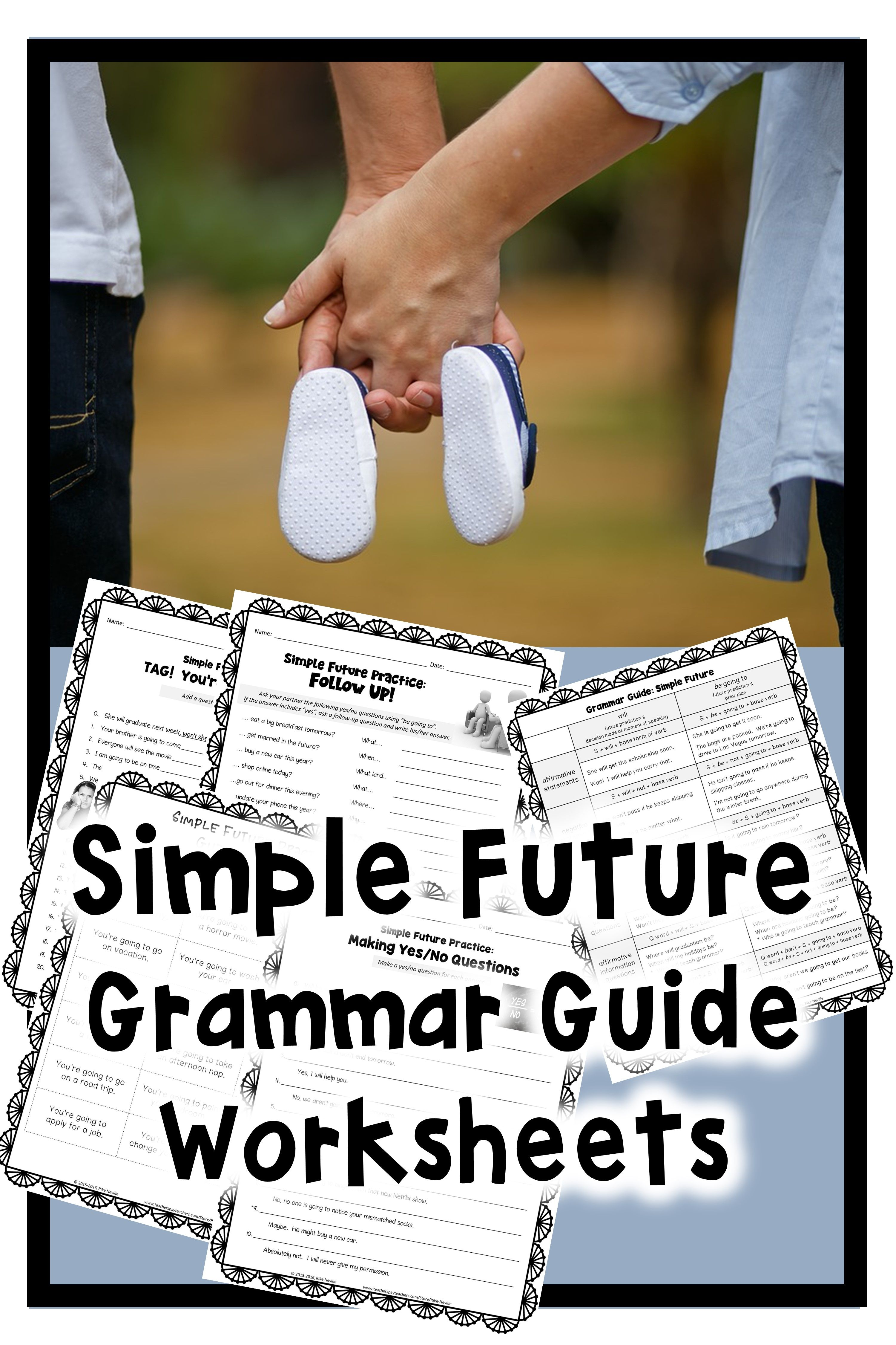 00220dc2f6eb Simple future grammar guide with worksheets for adult ESL students or  secondary students