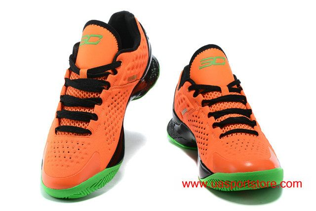 super popular 09794 cfb1d Under Armour Curry One Low Orange Black Dots Green Men's ...