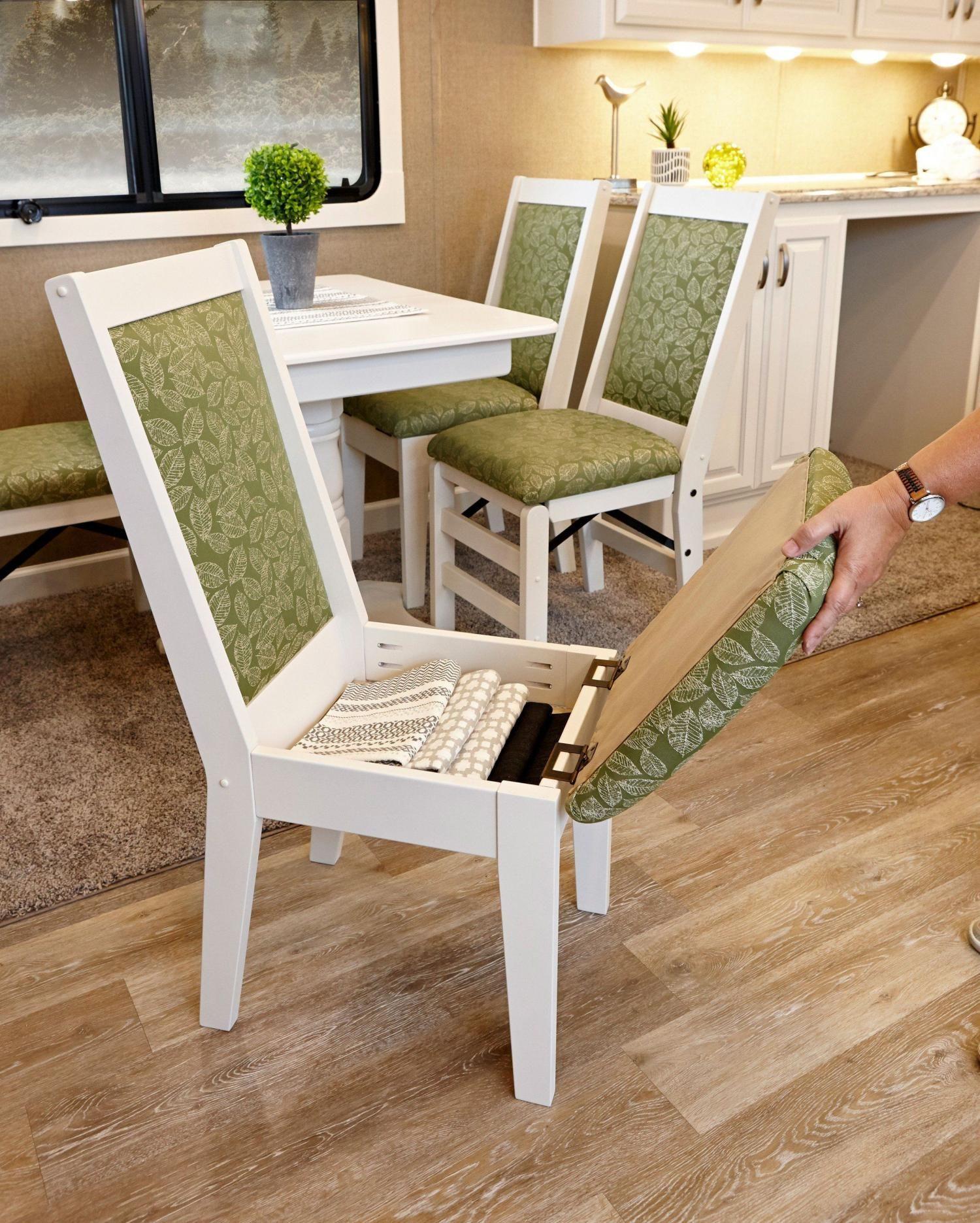 Hidden Storage Camper Dining Chairs