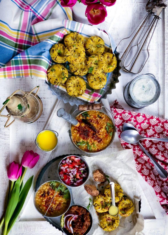 Cornmeal Dumplings Makka ke Dhokle Recipe Vegetarian