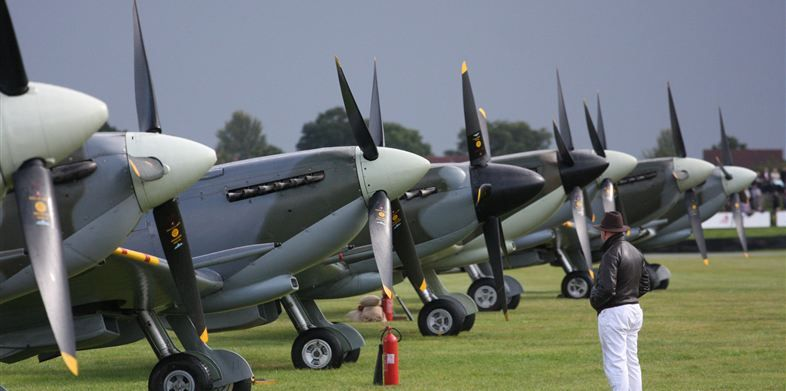 Possibly one of the greatest sights.... Goodwood Revival