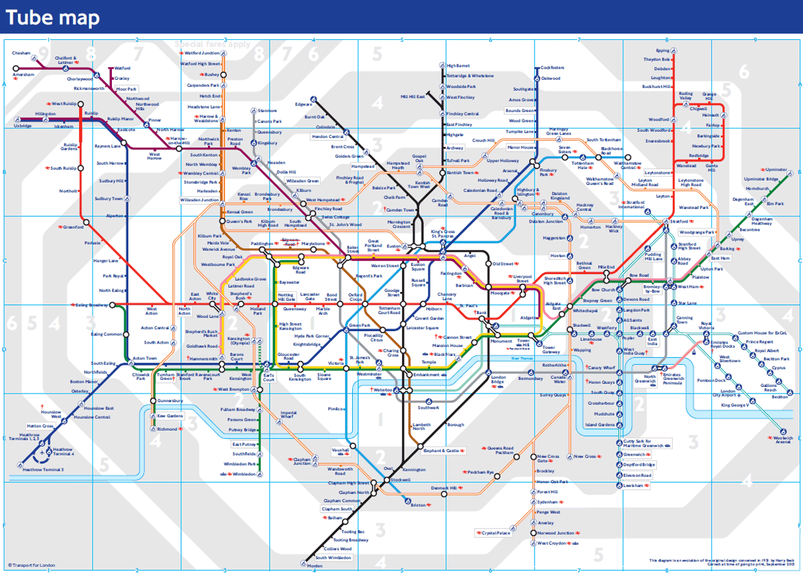 London Tube Map Zones 1 9 And Underground | Hh in 2018 | Pinterest ...