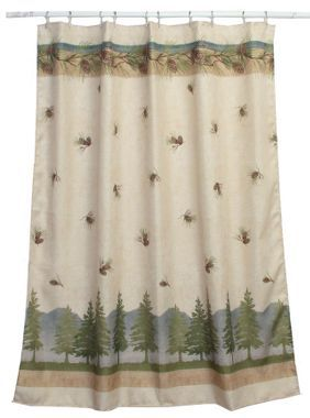 Pine Cone Branches Shower Curtain Cabela S Fabric Shower Curtains Shower Curtain Curtains