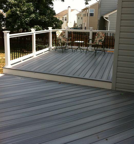 Baltimore md fiberon horizons castle grey decks for Horizon composite decking