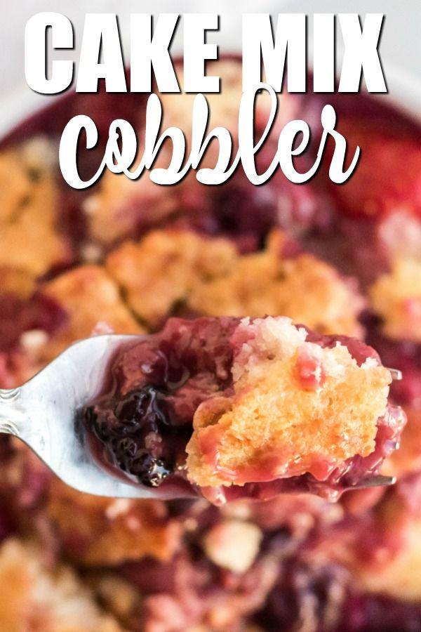 Cake Mix Cobbler