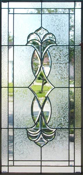 JS16P Leaded Glass Beveled Window Custom Glass DesignStained