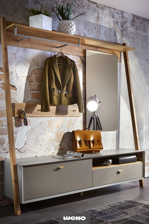 Stilvolle Garderobe - Gerade im Flur oder in einer kleinen Die in