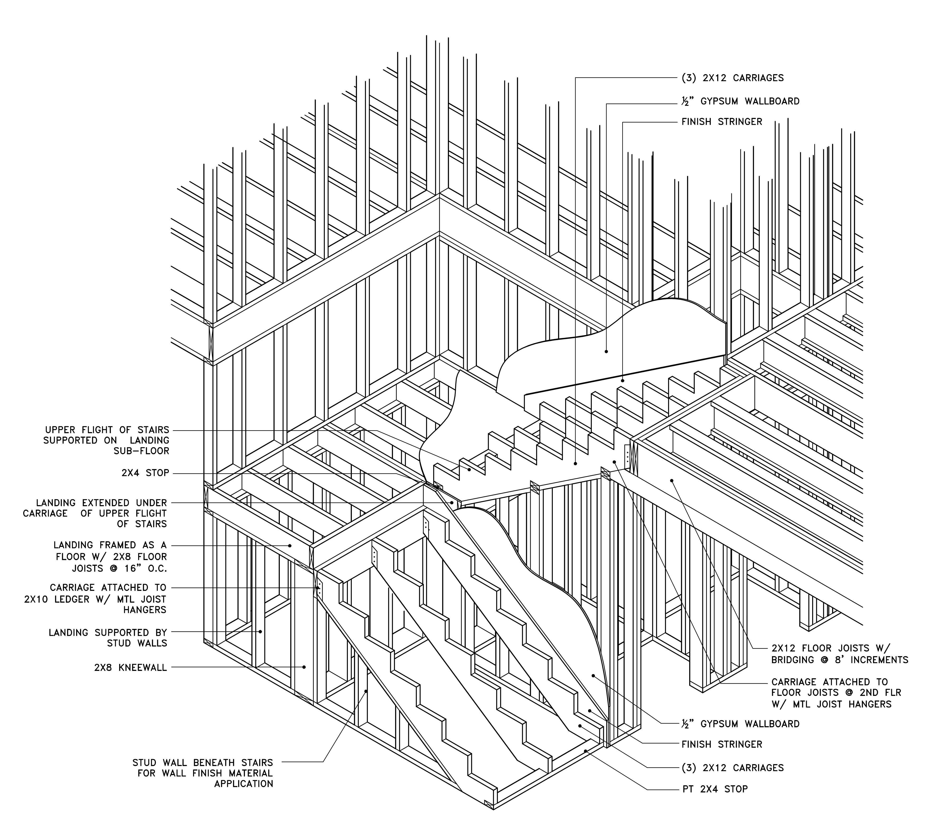 hight resolution of isometric stair details by jeremy wright