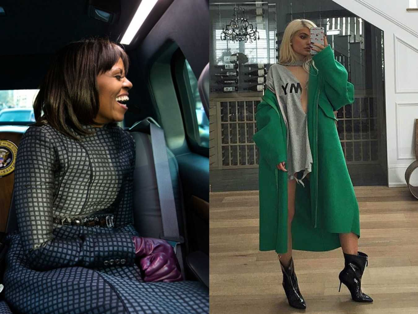 Weekly Crossover: Michelle Obama x Kylie Jenner. The fierce First Lady meets the sexy star in a holiday themed Weekly Crossover.
