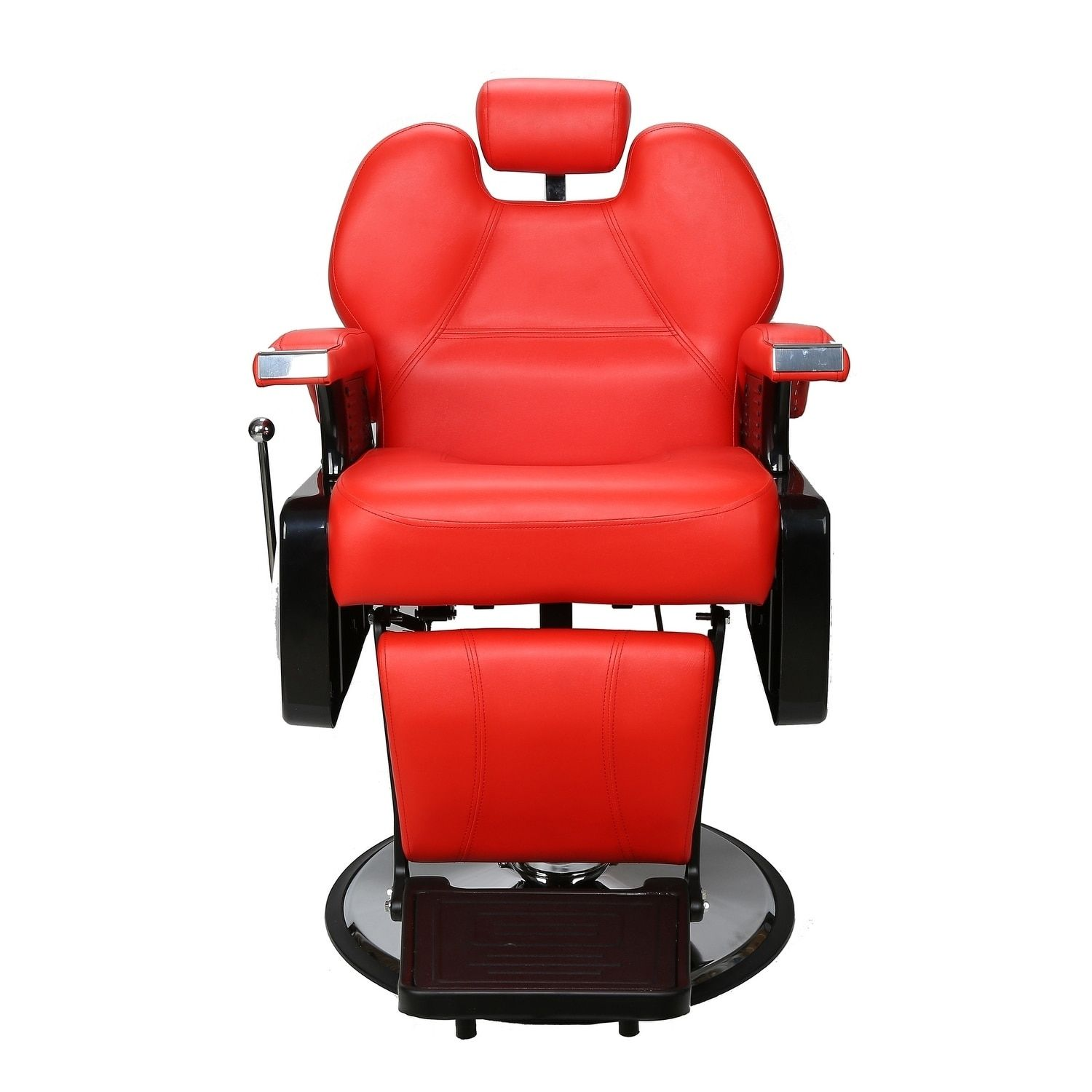 Red Barber Chair Barberpub Hydraulic Recline Red Barber And Salon Chair Red