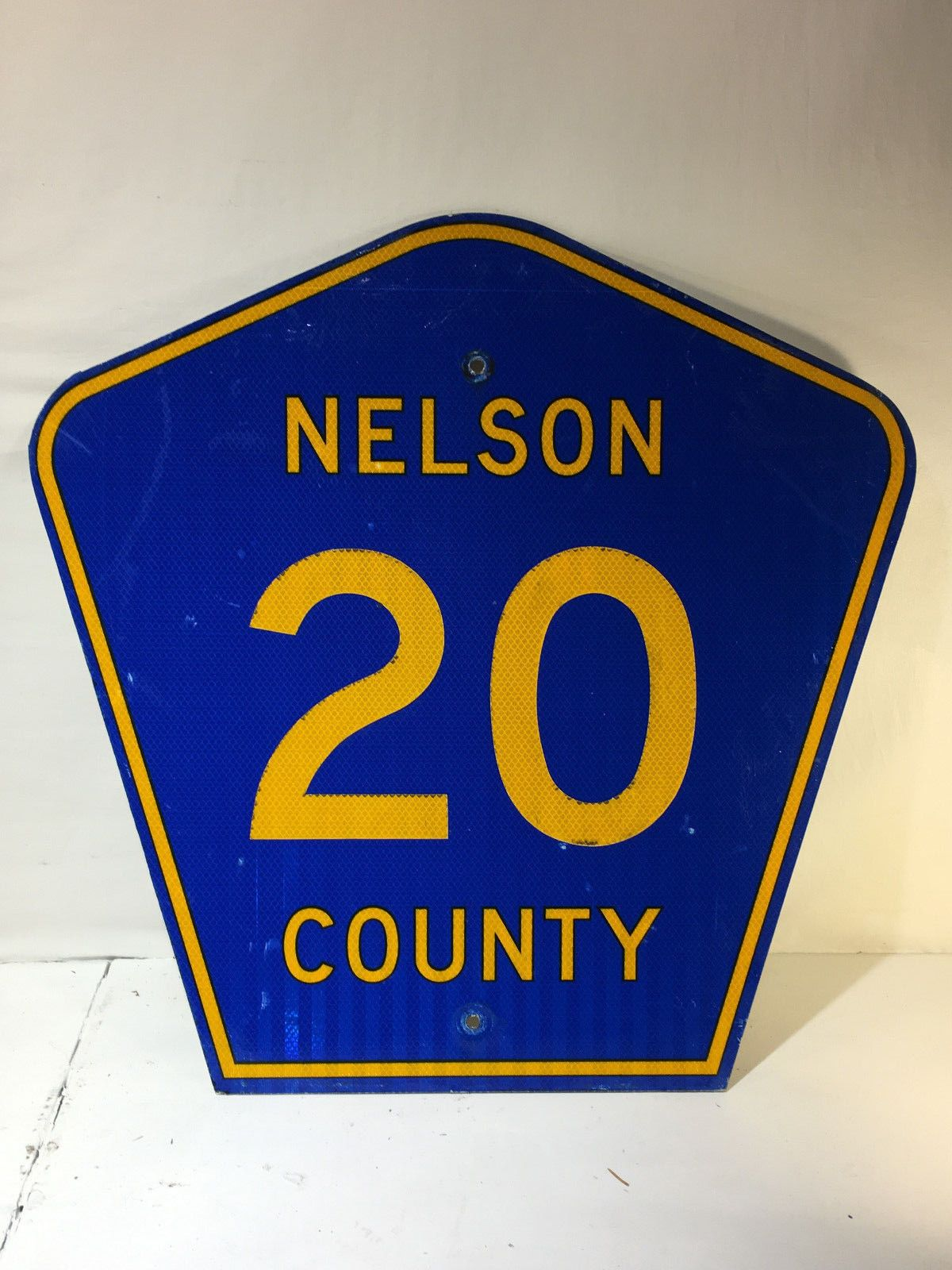 Details About Original Retired North Dakota Nelson County 20 Highway Sign Marker Man Cave Nelson County Highway Signs North Dakota