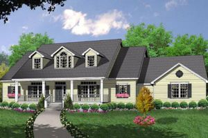 Houseplans.com Country Front Elevation Plan #40-370