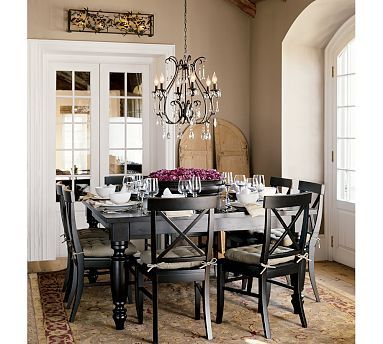 Potterybarn Amherst Dining Table Love The Rich Brown And Purple