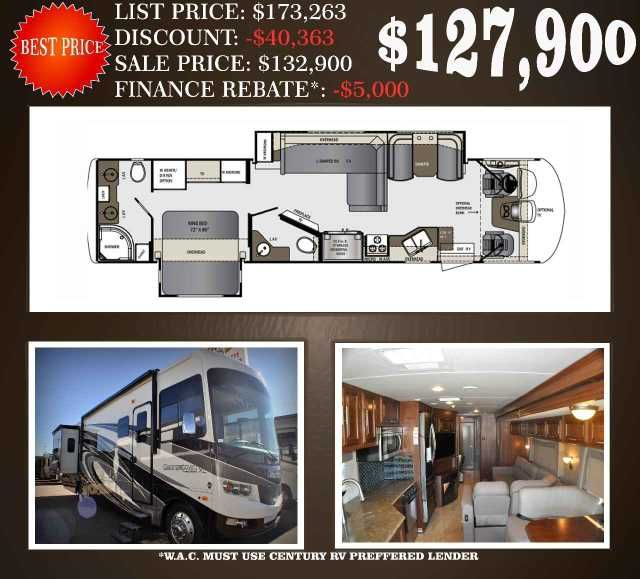 new 2016 forest river rv georgetown xl 378ts motor home class a at