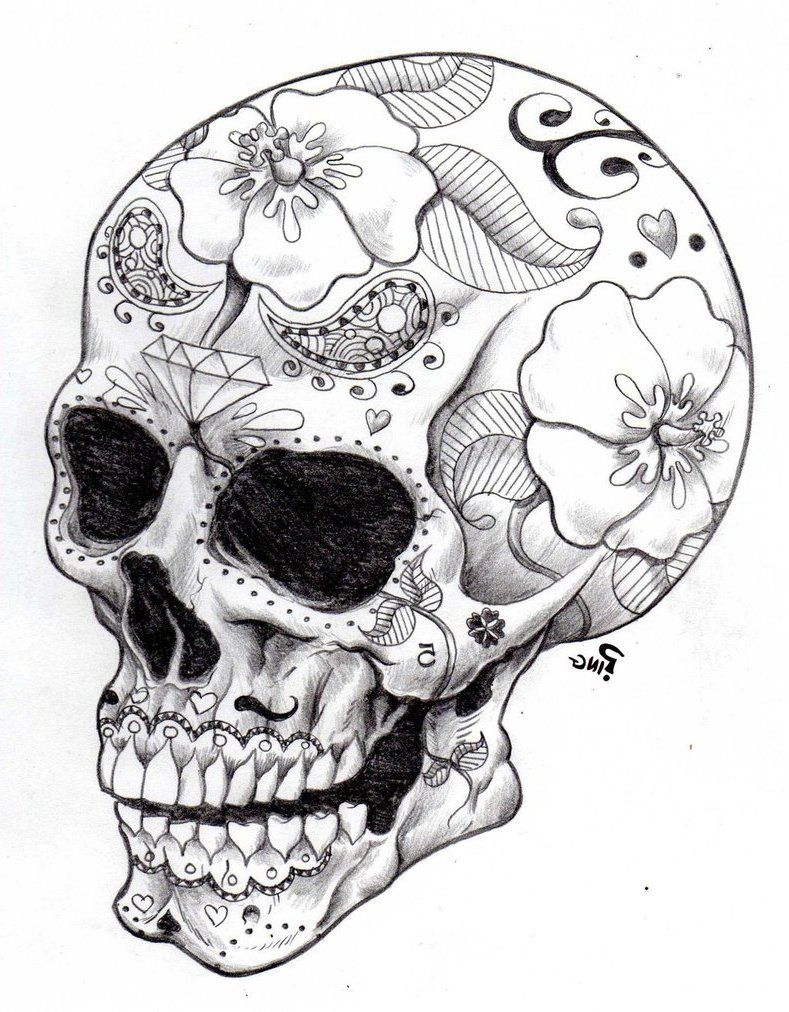 Coloring pages skulls - Sugar Skull Coloring Pages Google Search
