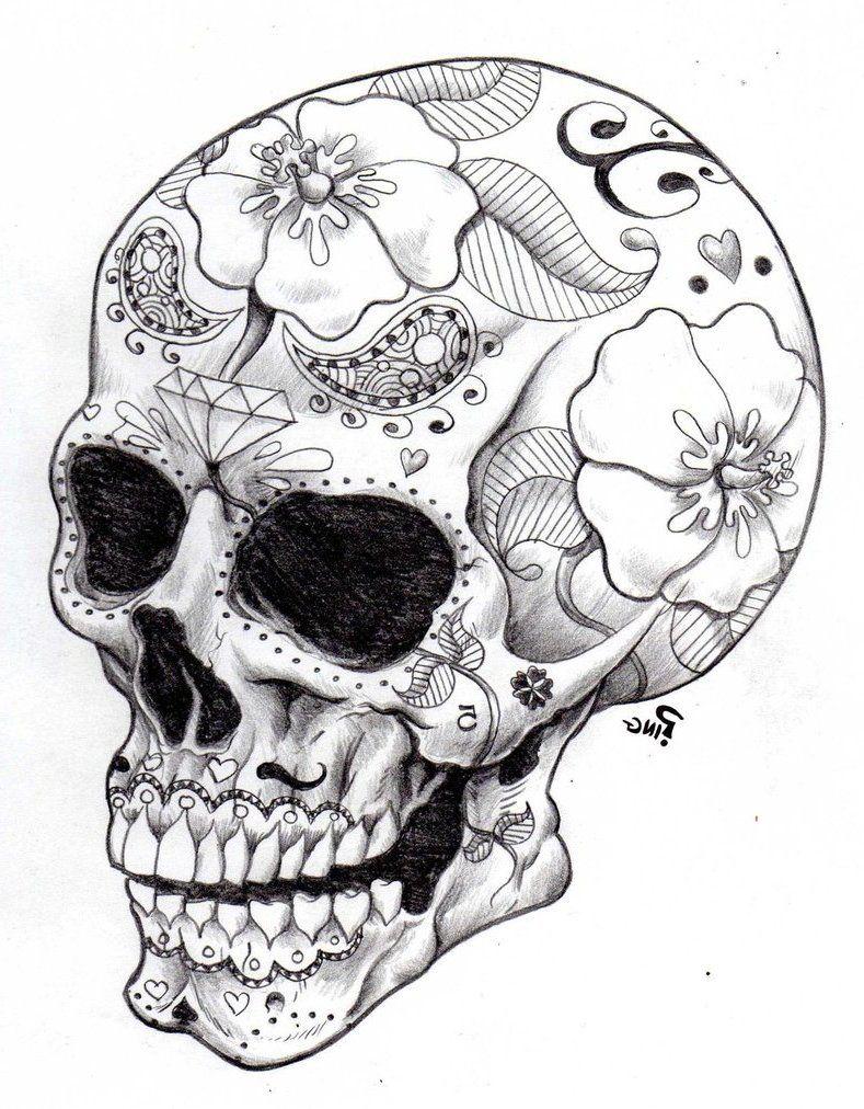 sugar skull coloring pages - Google Search | SUGAR SKULL THINGS ...