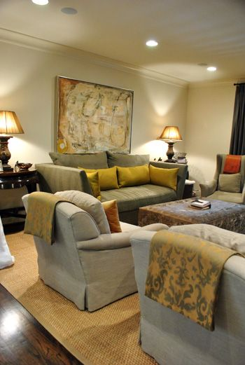 Living room-grey & gold