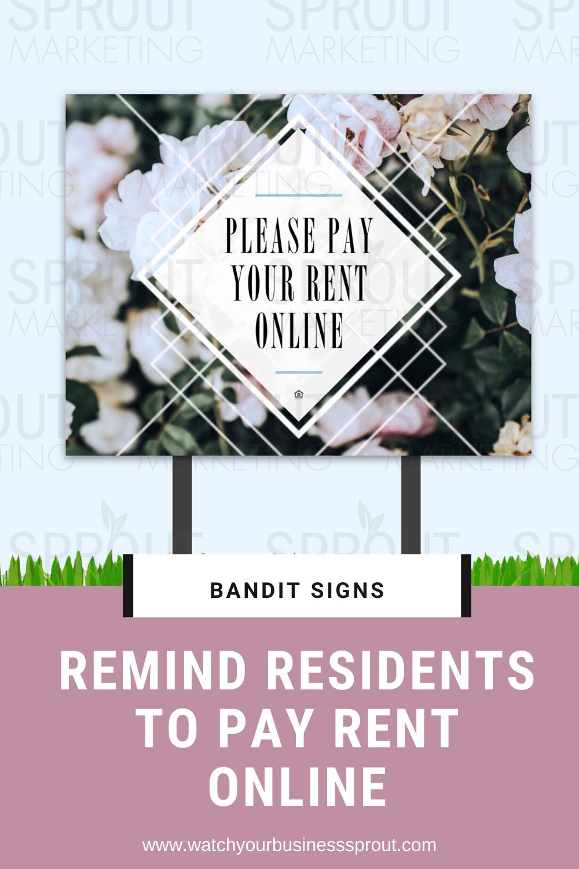Pay Rent Online Bandit Signs Rent Online Bandit