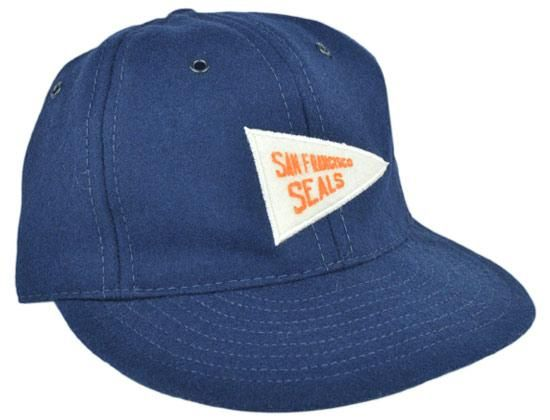 1ff951f2586 San Francisco Seals Red Ball Pennant Fitted Baseball Cap by EBBETS FIELD