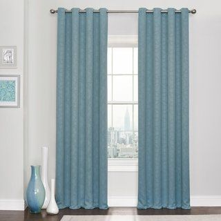 Eclipse Kingston Thermaweave Blackout Curtains 52x108 Spa Blue Polyester Geometric With Images Mattress Furniture Blackout Curtains Curtains