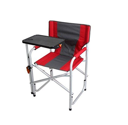 Durable Aluminum Frame Directors Chair With Swivel Desk Padded