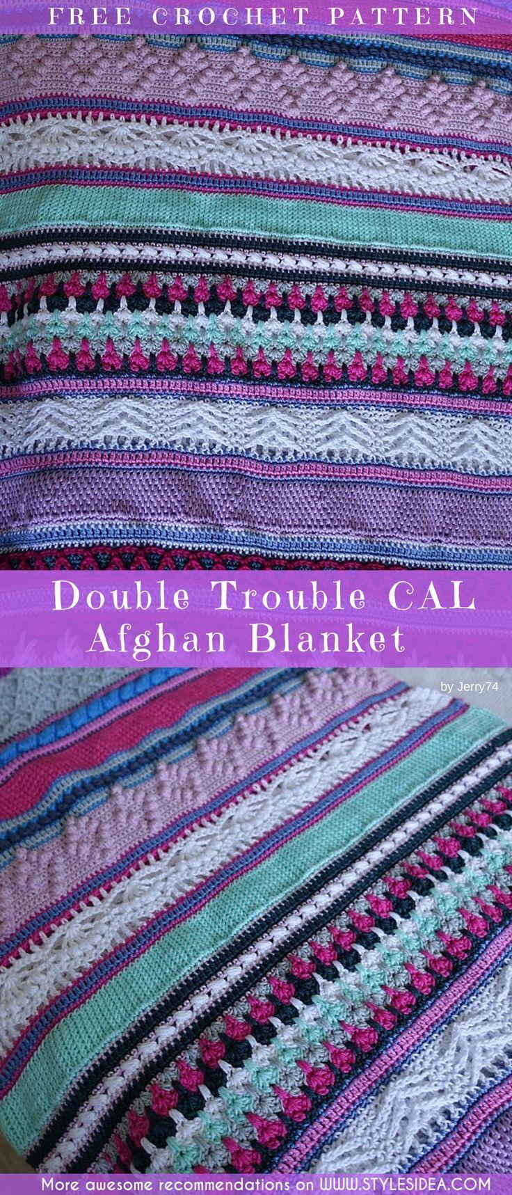 Double Trouble CAL Afghan Blanket Free Crochet Pattern | Pinterest ...