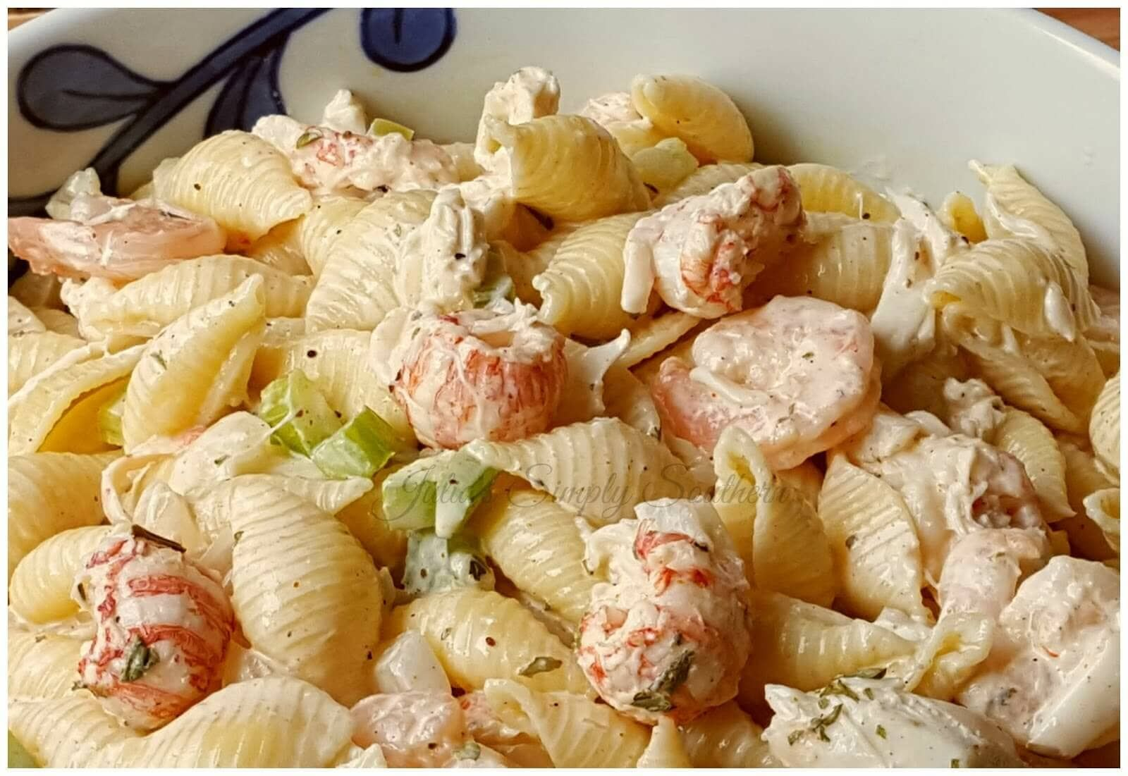 Seafood Pasta Salad Julias Simply Southern In 2019