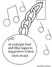 Paul and Silas Coloring Pages Paul and Silas In Jail Coloring