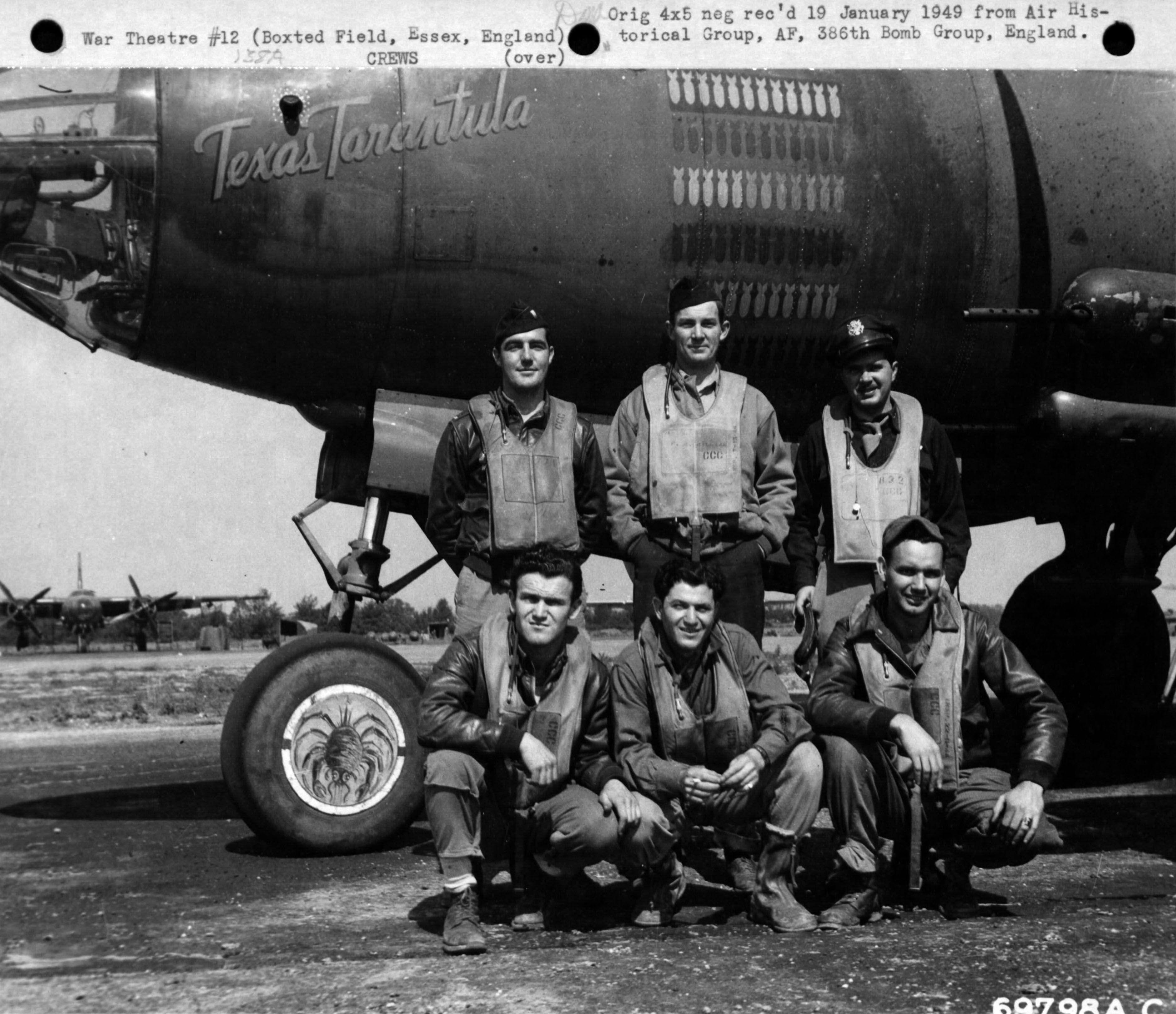 """B-26B Marauder """"Texas Tarantula"""", 386 BG 554 BS, Boxted"""