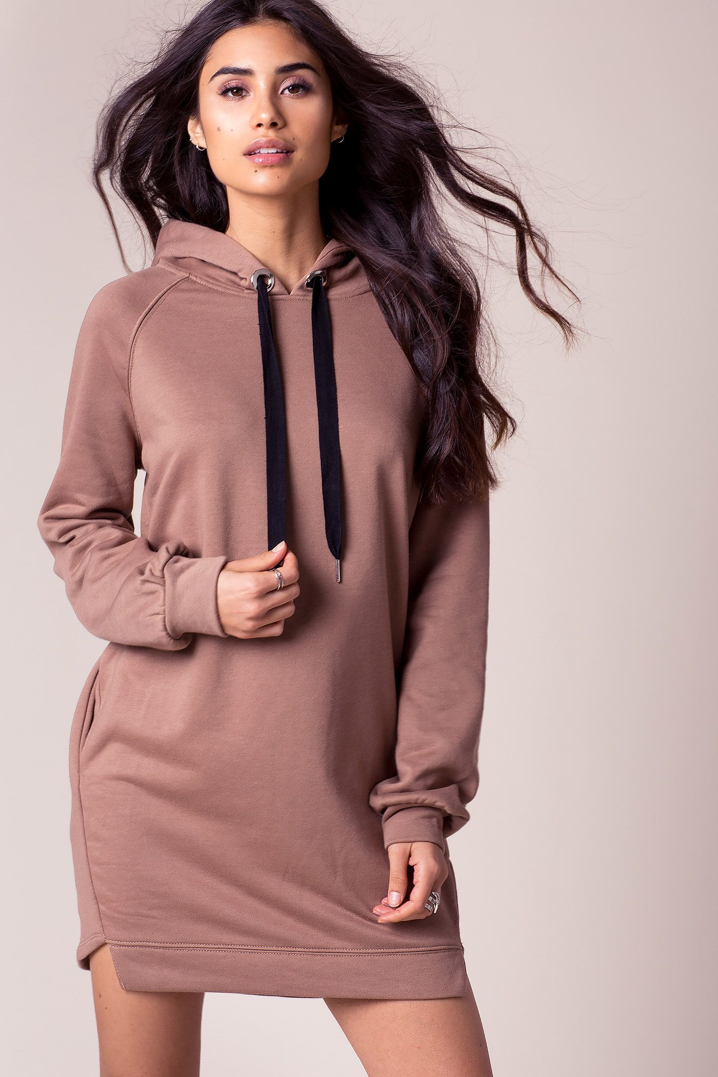 Dresses with a hood - models for real fashionistas