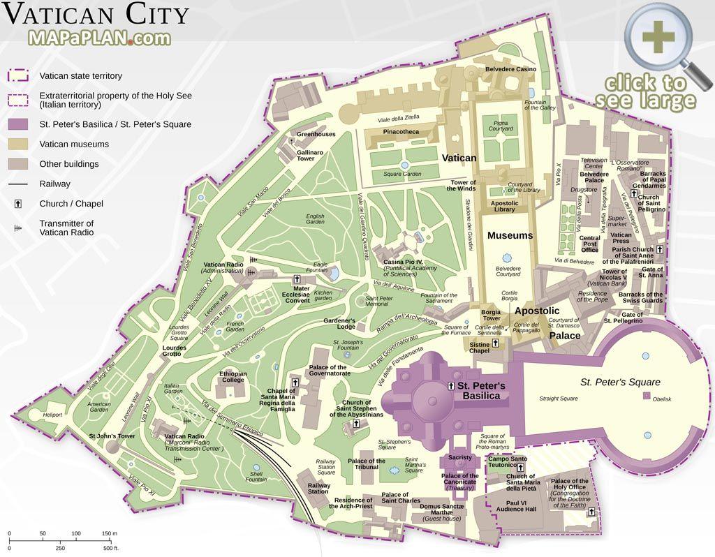 Vatican City must do favourite major landmarks map Rome top tourist