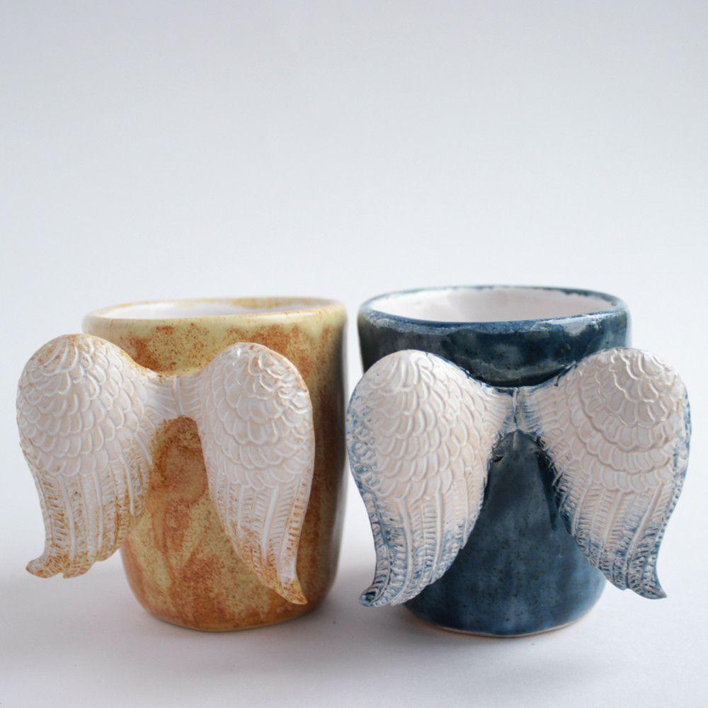 Cute ceramic mugs. Three Snails handmade shop online