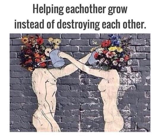 Just say no to destroying each other.