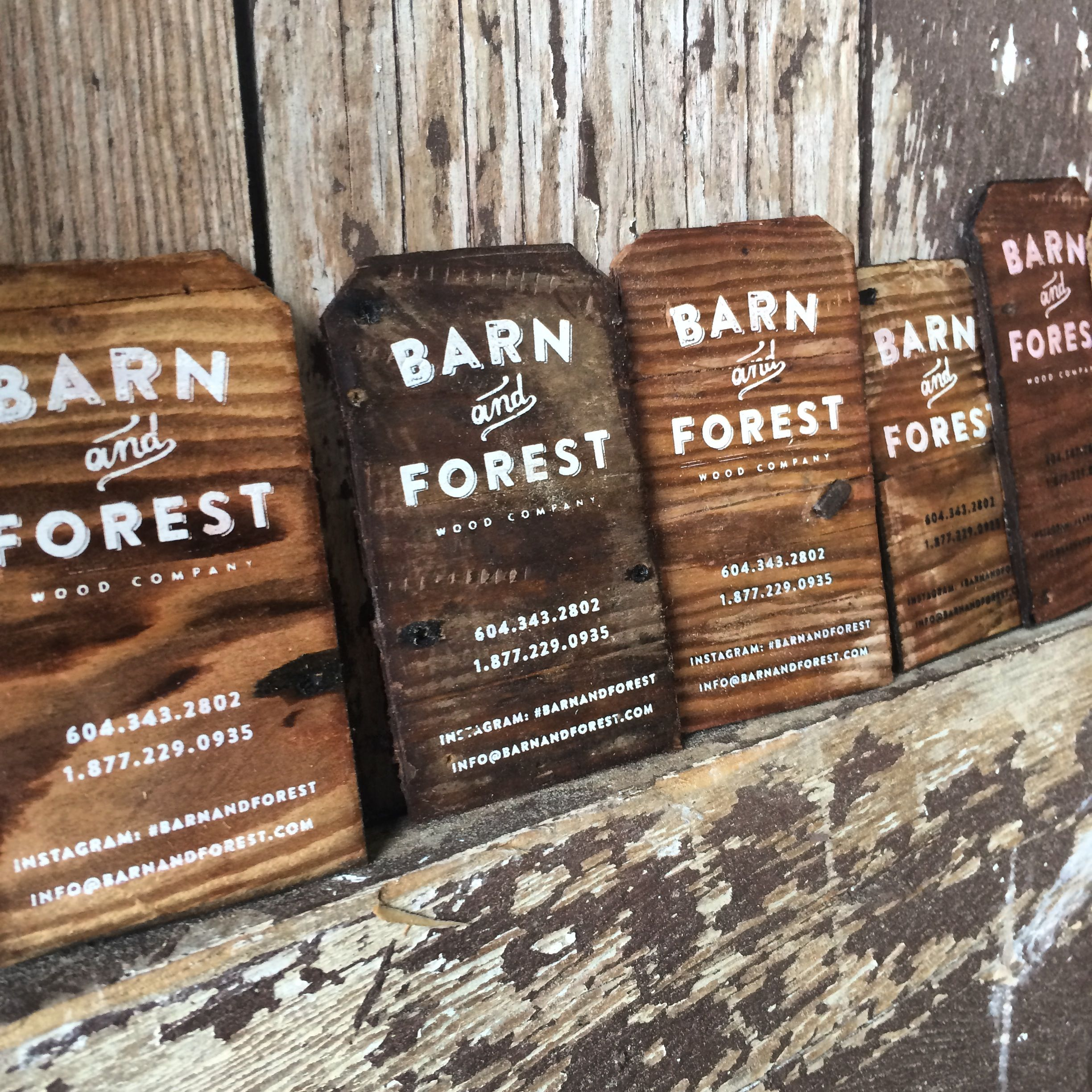 Delicately made reclaimed wooden business cards made from 109 year ...