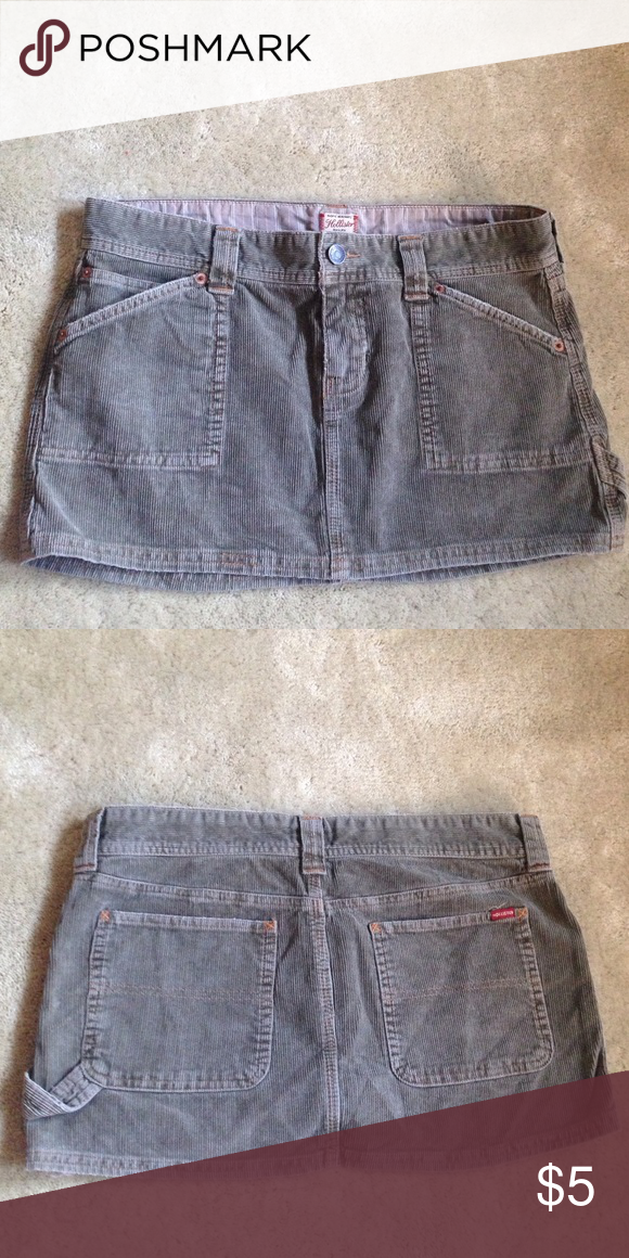 Hollister corduroy skirt Olive green mini skirt. Size S. 100% cotton Hollister Skirts Mini