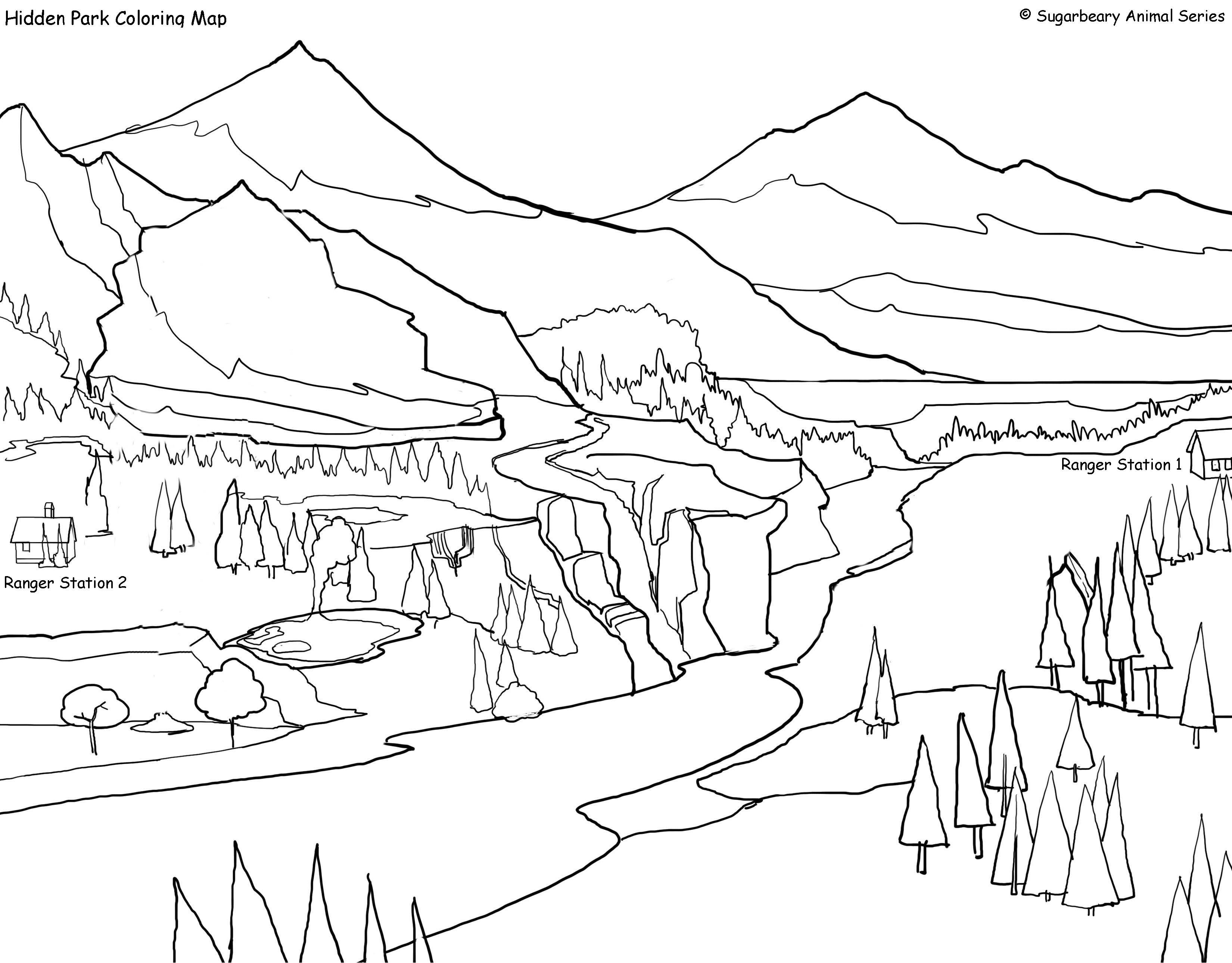 Large Park colouring picture Ideas for the House Pinterest House