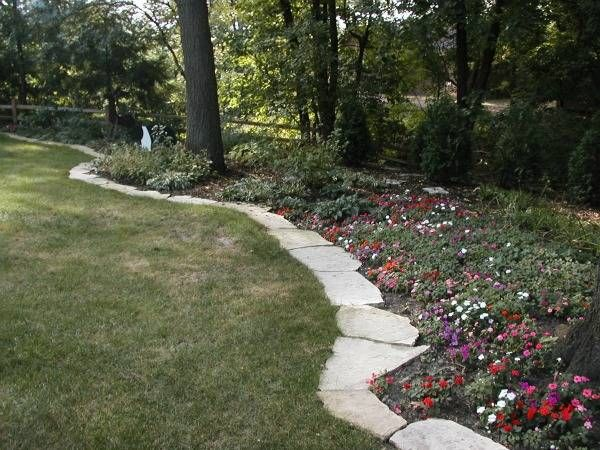 Perrenial gardens for iowa drainage solutions des for Path and border edging