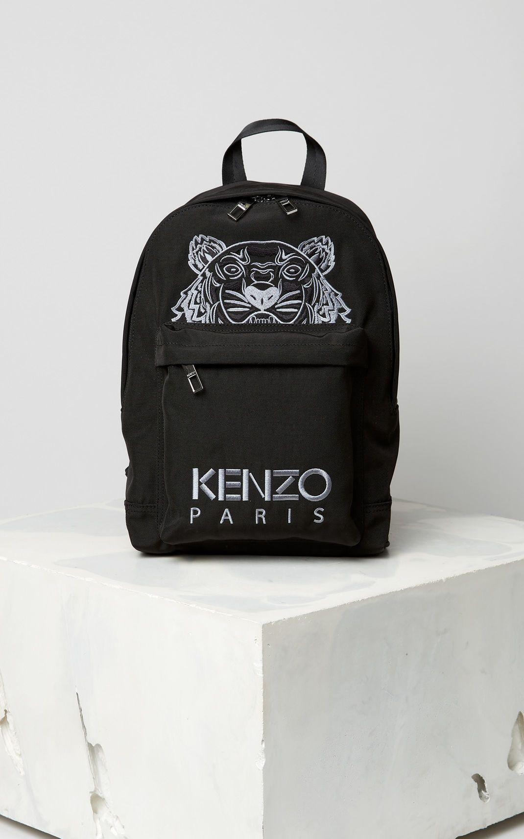 3af004bf785 BLACK Medium Tiger Canvas Backpack for unisex KENZO | Handbags ...
