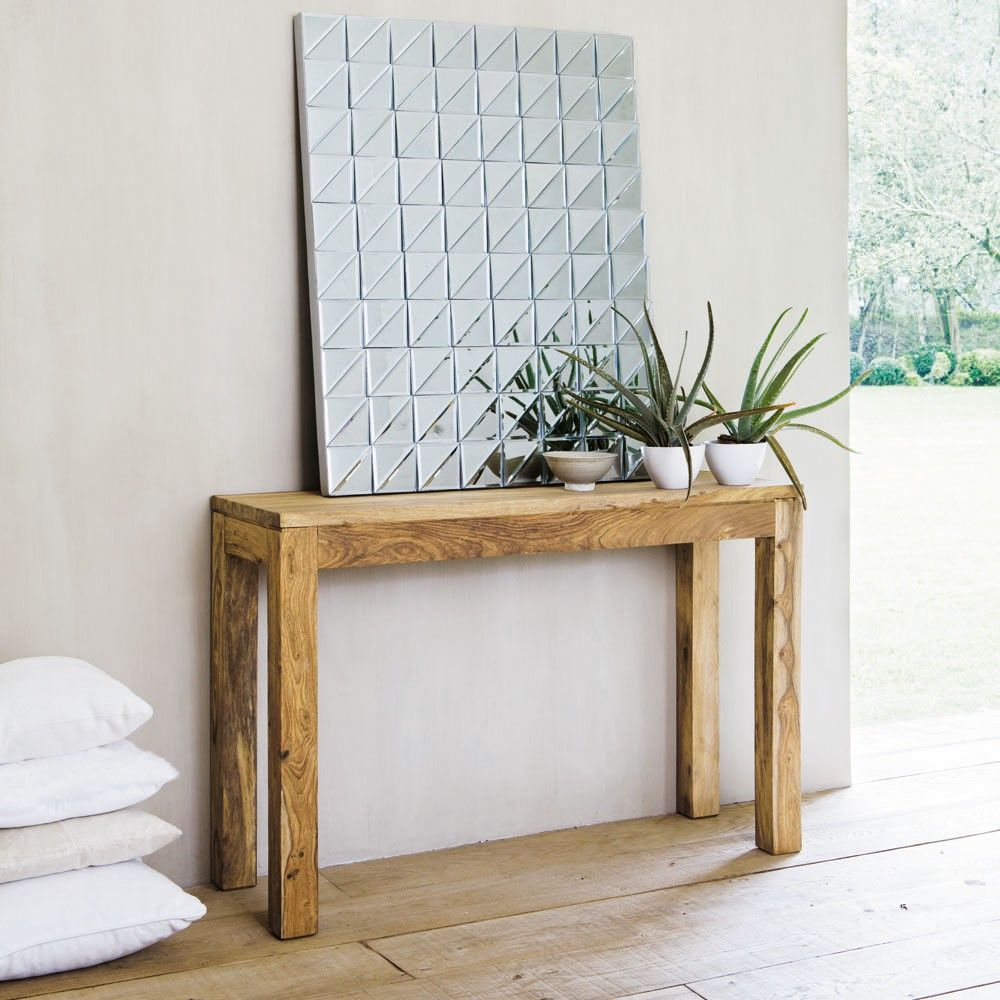 Console Stockholm Maisons Du Monde Wood Console Table Wood Console Interior Barn Door Hardware