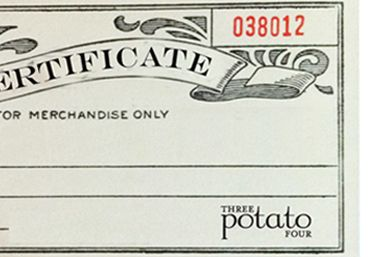 Certificated POTATOES