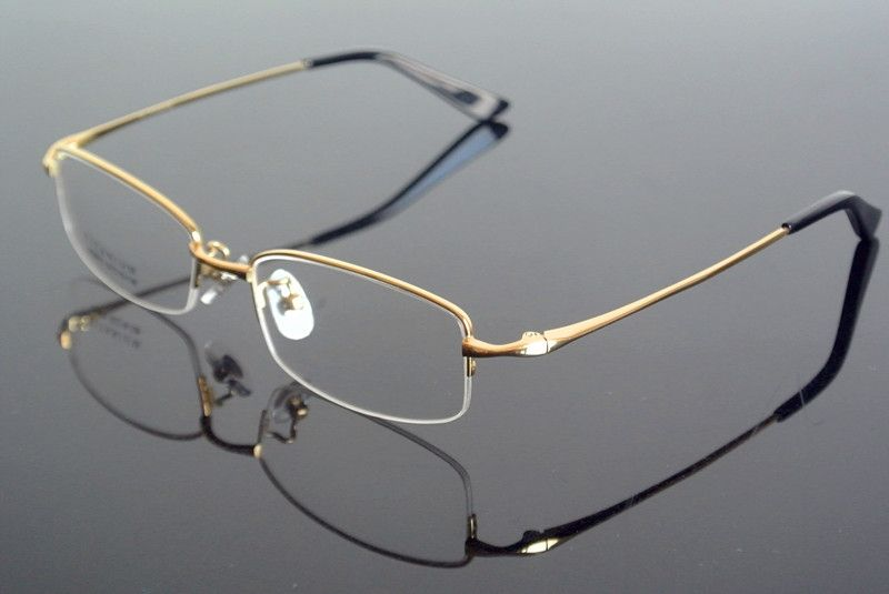 11e1e3aed2 men s Pure Titanium Half Rimless Eyeglass Frame Glasses Spectacles Rx able  Eyeglasses