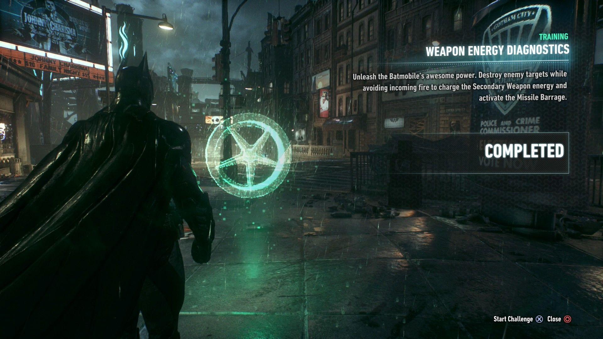 Batman Arkham Knight Weapon Energy Diagnostics Ar Challenge Walkthrough Batman Arkham Knight Batman Arkham Arkham Knight