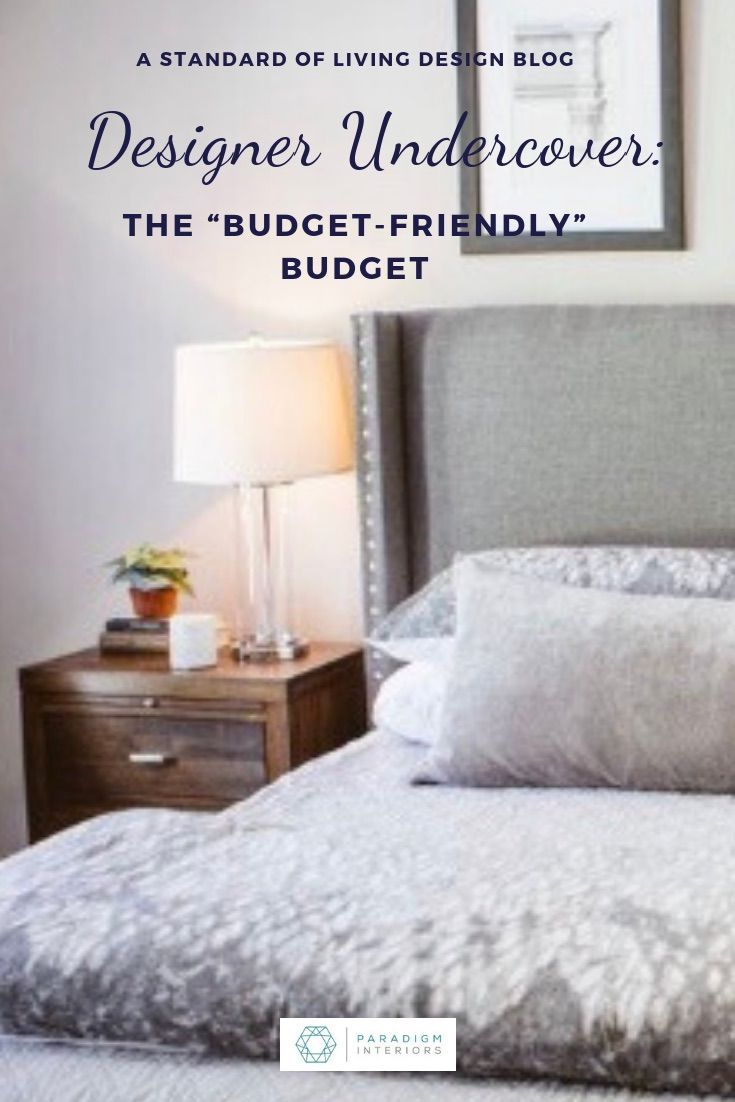 Interior Designer Undercover The Budget Interior Design Budget