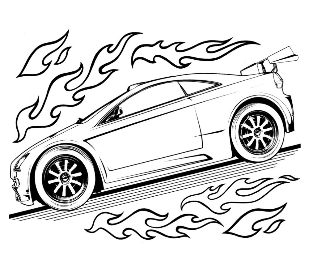 Free Printable Hot Wheels Coloring Pages For Kids In 2020 Race Car Coloring Pages Cars Coloring Pages Truck Coloring Pages