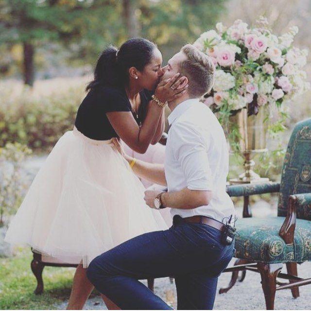 Gorgeous Interracial Couple Marriage Proposal. She Said