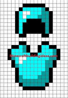 Minecraft Pixel Art Templates Diamond Armour Helmet And Chest