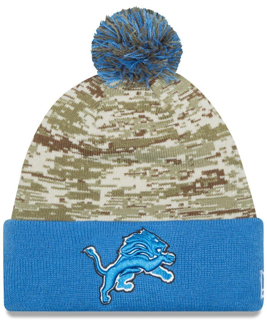 big sale 0433a 729e2 New Era Detroit Lions Salute to Service Knit Hat | Products ...